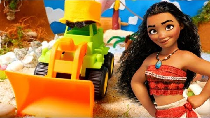Kids toy video & kids toys videos for kids. Disney Moana toys. Moana Maui & toy tractor for children
