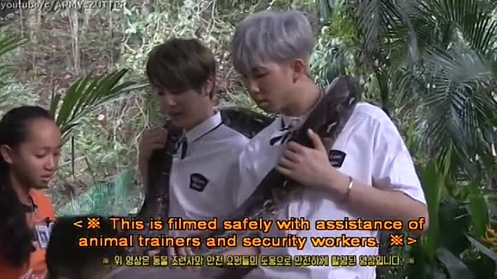 [ENG SUB] Poor J-HOPE scared the pants off ¦ BTS plays with elephant & big snake [PART 3]