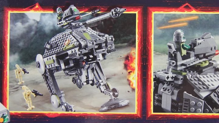 Lego Star Wars 75043 AT-AP Complete build, unboxing and review