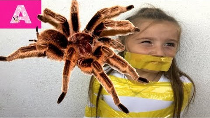 ГИГАНТСКИЙ ПАУК напал на Детей GIANT SPIDERS ATTACK Video for Kids