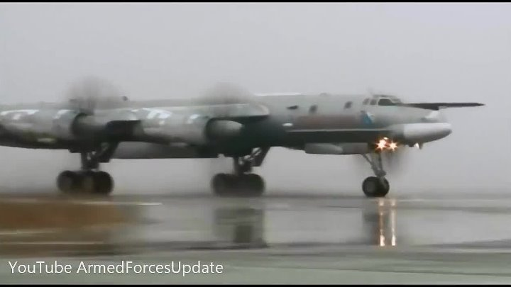 WORLDS FASTEST Propeller Driven Aircraft Tu-95 flying on mission