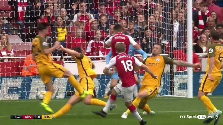 Arsenal Brighton goals and highlights