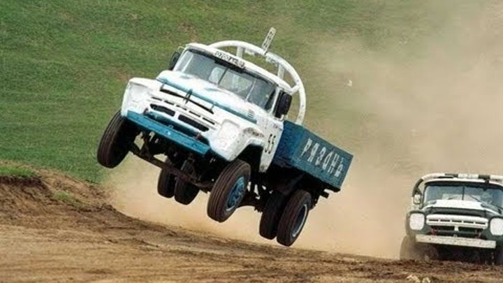 Russian Flying Truck Racing - Offroad Truck Race Russia - Bison Track Show