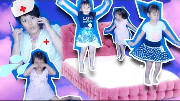 Five Bad Baby Jumping On The Bed Nursery Rhymes for Children Simple Songs for Kids