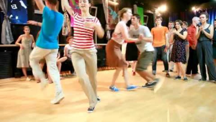 Lindy hop fast jam, moscow