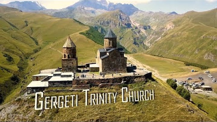 Georgia. Gergeti Trinity Church, Kazbegi