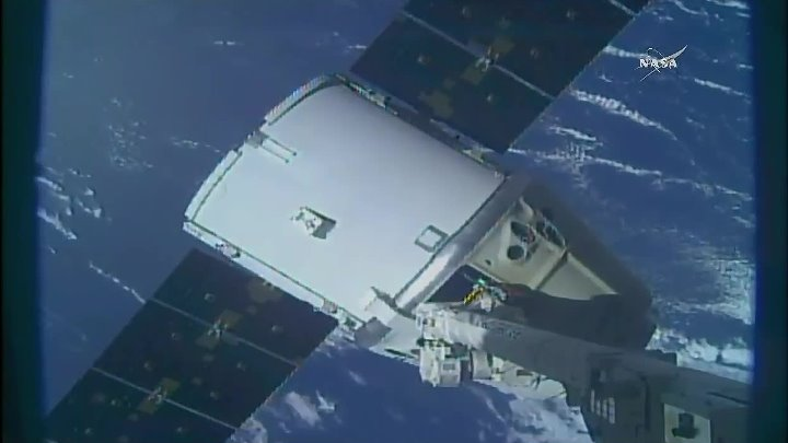 SpaceX CRS-13- Dragon departure from the ISS