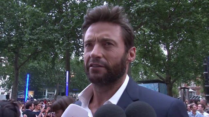 Hugh Jackman talks about getting naked at the Wolverine Premiere