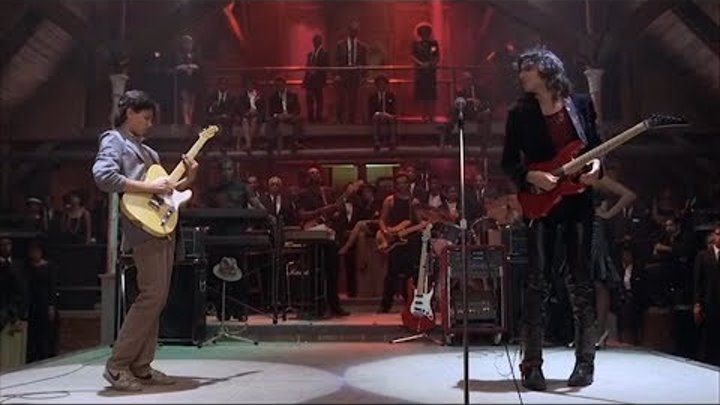 Steve Vai vs Karate Kid Epic Guitar Battle