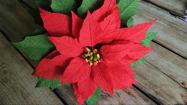 ABC TV | How To Make Poinsettia Paper Flower From Crepe Paper - Craft Tutorial