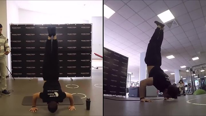 Most handstand push ups in one minute (male) - Guinness World Records