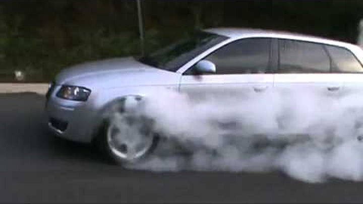 Audi Quattro S-Line Burnout Fail