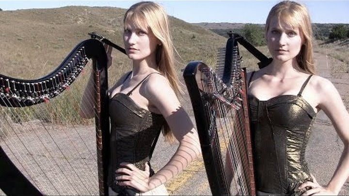 SWEET CHILD O' MINE - Guns N' Roses (Harp Twins) Camille and Kennerly