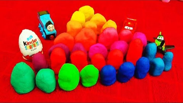 Play-Doh 30 Surprise Eggs Playdough Peppa Pig Toy Story Disney Pixar Cars Toys Angry Birds Ice-Cream