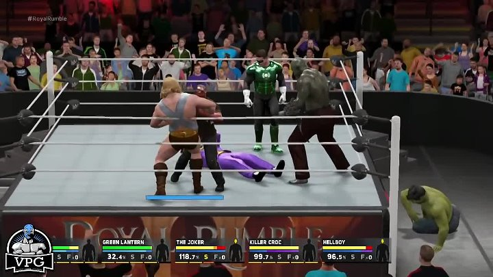 WWE 2K17 Superheroes Royal Rumble Match