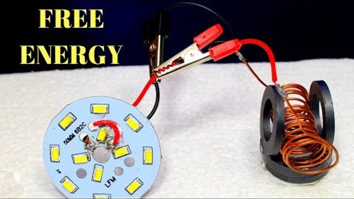Free Energy Device, Free energy generator for light bulbs Using Copper wire and Magnet