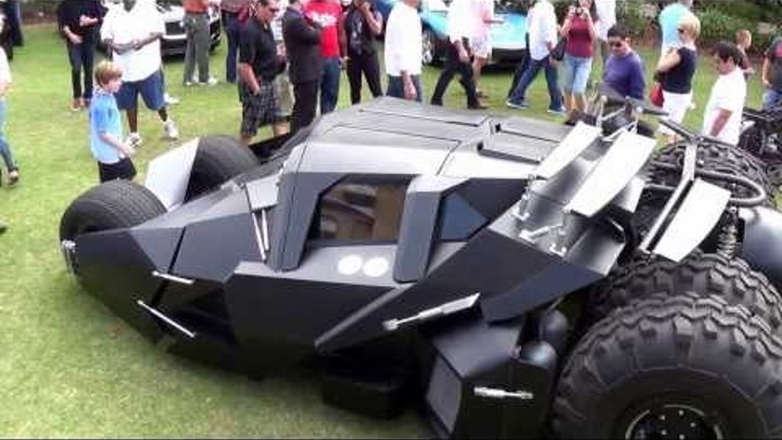 TUMBLER BATMAN'S UNREAL SUPERCAR START UP and DRIVE! 2013 Festivals of Speed: Orlando