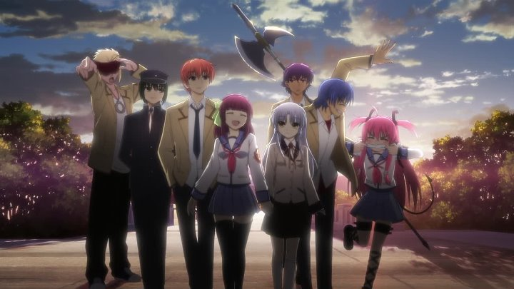 Ангельские Ритмы (Angel Beats!) 13 серия (2010) [OSLIKt][AnimeDub.ru]