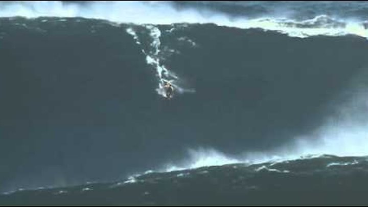 Surfing the biggest wave EVER! 90 Feet - Breathtaking! Record Breaking! Nazare by Lisbon, Portugal