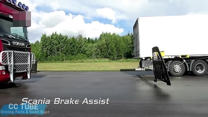 Emergency brakes system of Trucks saved a life
