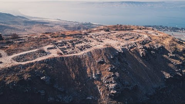 Face on the mountain, the ancient city of Hippos-Sussita, Israel 4K By Eyal Asaf