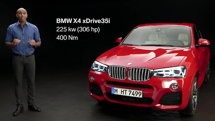 The first-ever BMW X4. Official product substance film.