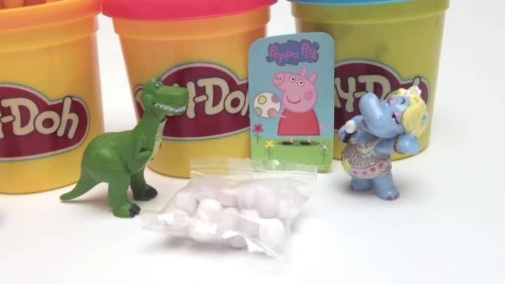 Play Doh Eggs Peppa Pig Surprise Eggs Mickey Mouse Pokemon Cars 2