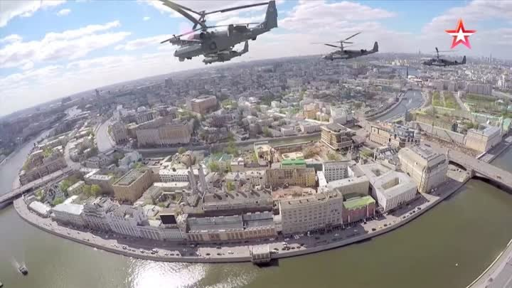 TV Zvezda - Russia Victory Day Parade 2015 : Air Force Military Assets GoPro [1080p]