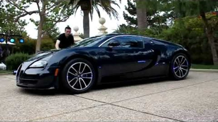 Bugatti Veyron SUPER SPORT Blue Carbon Fiber WORLD'S 1ST VIDEO ON ROAD