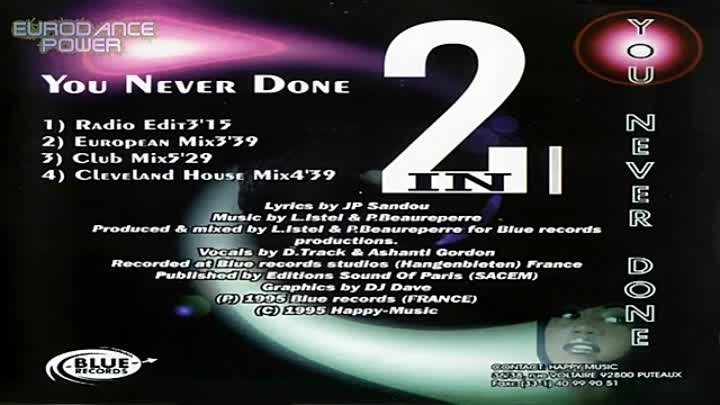 Two In One - You Never Done