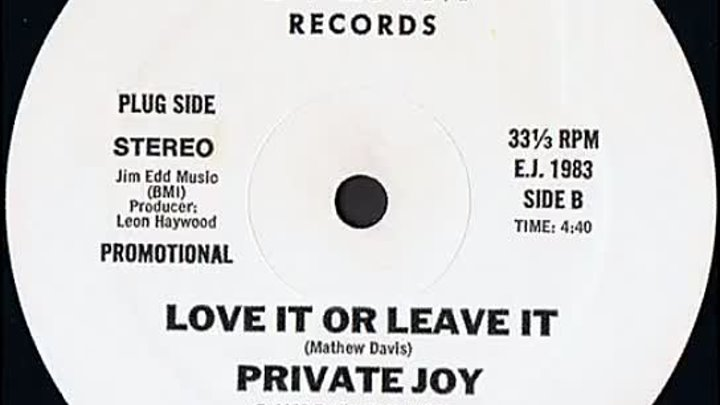 Private Joy Love It Or Leave It