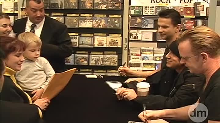 Depeche Mode in Tower Records In - Store, NYC (Playing the angel meet & greet)