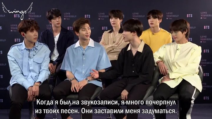 [Rus Sub] [Рус Саб] 180518 BTS On What They Love About Themselves, Each Other, Dream Artist Collabs People TV