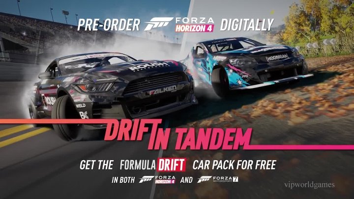 Forza Horizon 4 = трейлер Formula Drift Car Pack