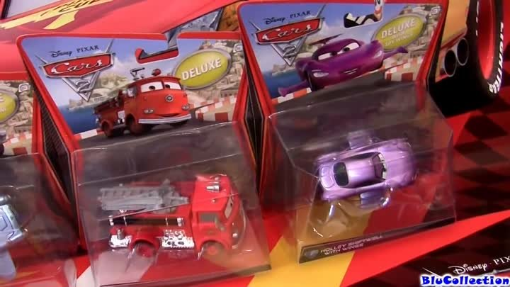 Submarine Finn McMissile CARS 2 Double Decker Bus Disney Pixar Diecast review by Blucollection