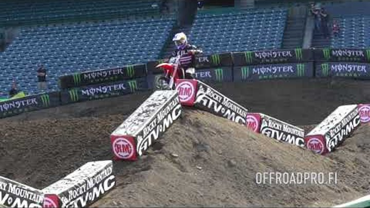 RAW: Anaheim Supercross media day riding full