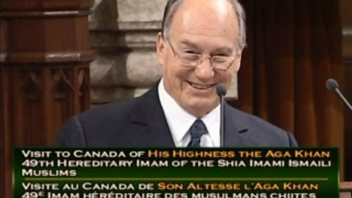 His Highness the Aga Khan's historic, 2014, address to the Canadian Parliament