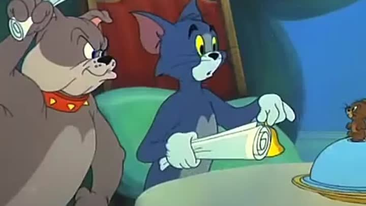 Tom & Jerry Fit to be Tied. Bell scene.