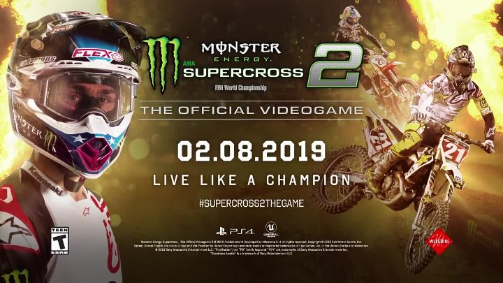 Monster Energy Supercross - The Official Videogame 2 - First Gameplay Reveal ¦ PS4