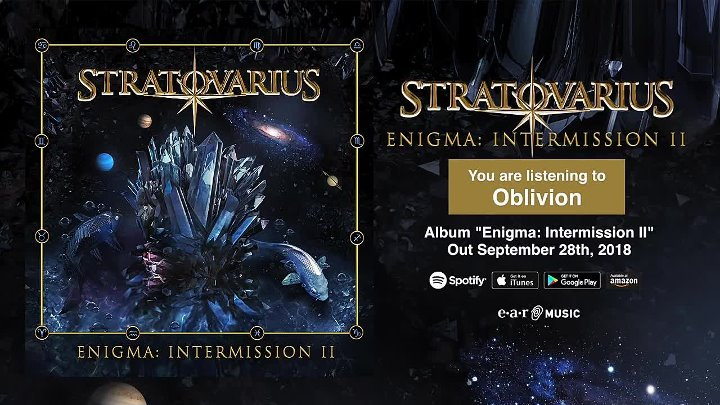 Stratovarius Oblivion NEW SONG - Album Enigma_ Intermission 2 OUT September 28th (1)