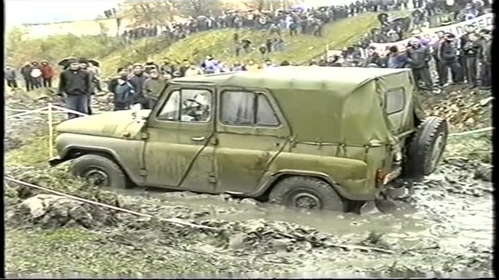 УАЗ на лысой резине. Я-245. UAZ. on bald tires. YA-245.