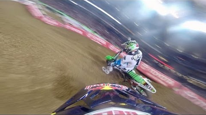 GoPro: James Stewart Battles Ryan Villopoto - 2014 Monster Energy Supercross St. Louis