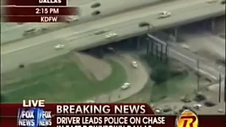 Dallas High Speed Car Chase Video - June 29 2009 - Dallas Car Chase End in Crash