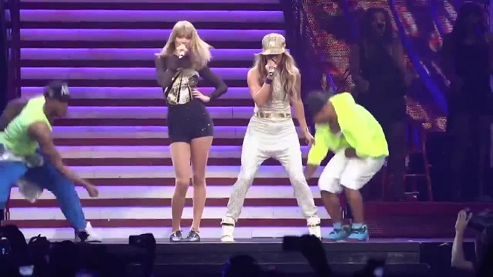 Jennifer Lopez & Taylor Swift - 'Jenny from the Block' live at Staples Center