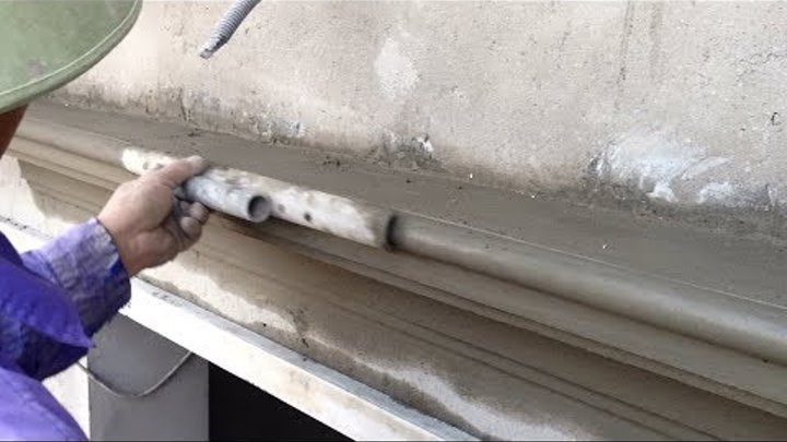House Construction - Rendering Techniques to Create Lines With sand and cement - Excellent Worker