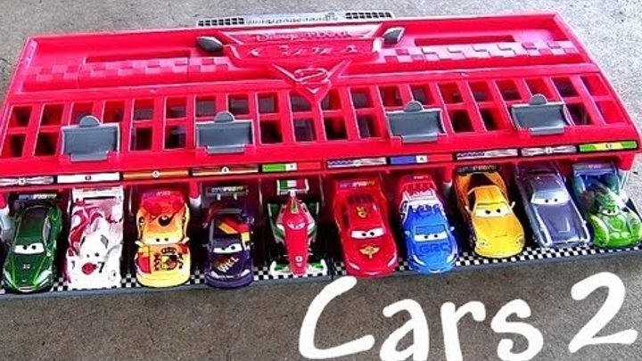 10-Cars Race Launcher World Grand Prix Speedway Multilanzadera Pixar by ToyCollector BluCollection
