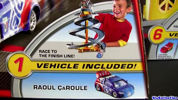 Cars 2 WGP Race-Off Spiral Track Set World Grand Prix Speedway Raoul ÇaRoule Disney Blucollection