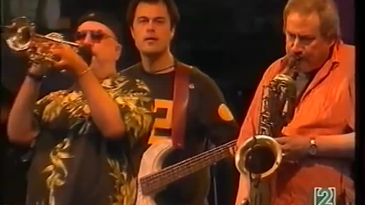 Ronnie Cuber baritone sax with Bill Evans-Randy Brecker SoulBop Band.