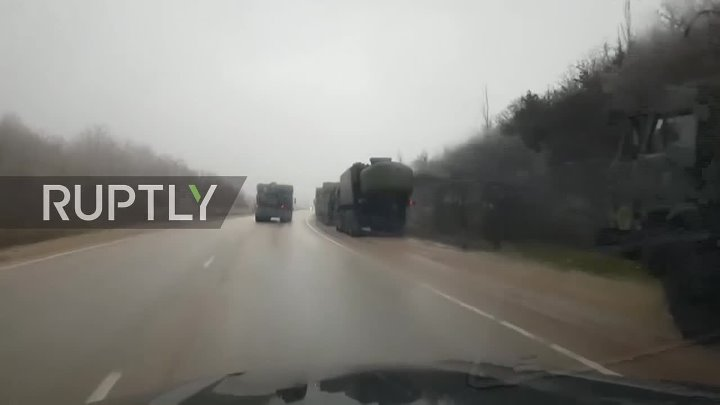 Russia: Anti-ship BAL missile complex spotted on Crimean highway EXCLUSIVE