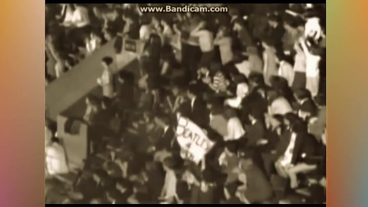 Beatles - Baby's In Black - ( Colorized Sepia ) - NME Awards Live 1965 - Bubbler